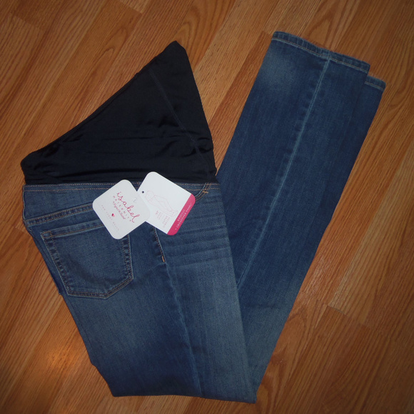 3bd54d4ed14 Isabel Maternity Bootcut Crossover Panel Jeans 0 NWT